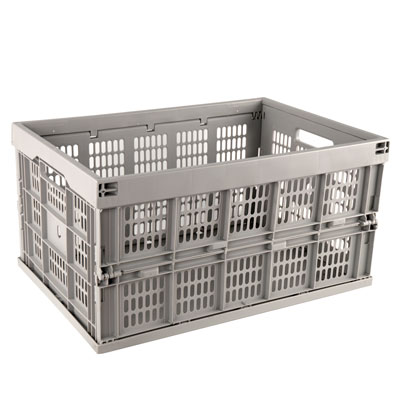Gray Collapsible Crates