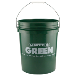 Recycled HDPE Green 5 Gallon Bucket & Lid