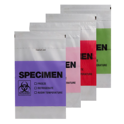 Color Coded Specimen Bags