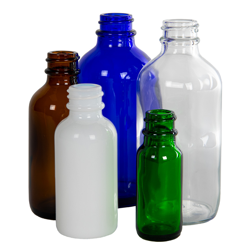 Glass Boston Round Bottles