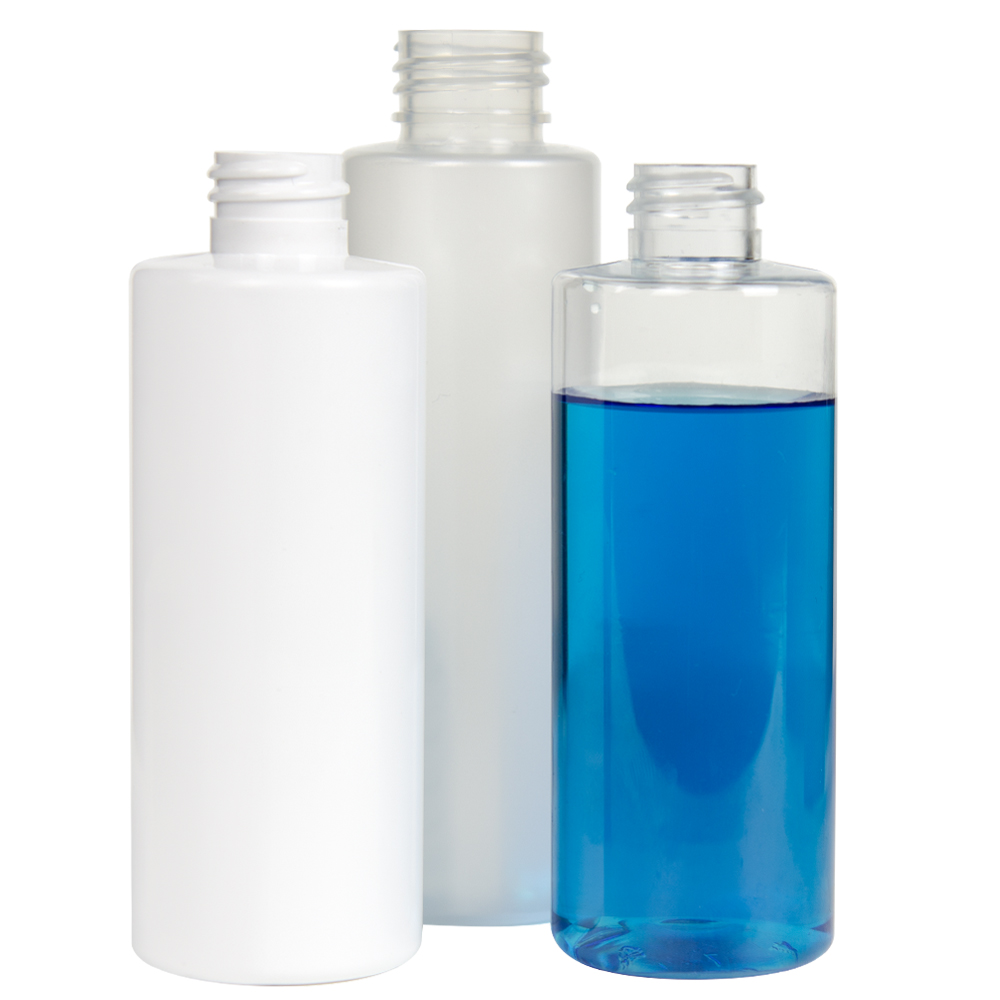 PET White, Clear & Frosted Cylinder Bottles
