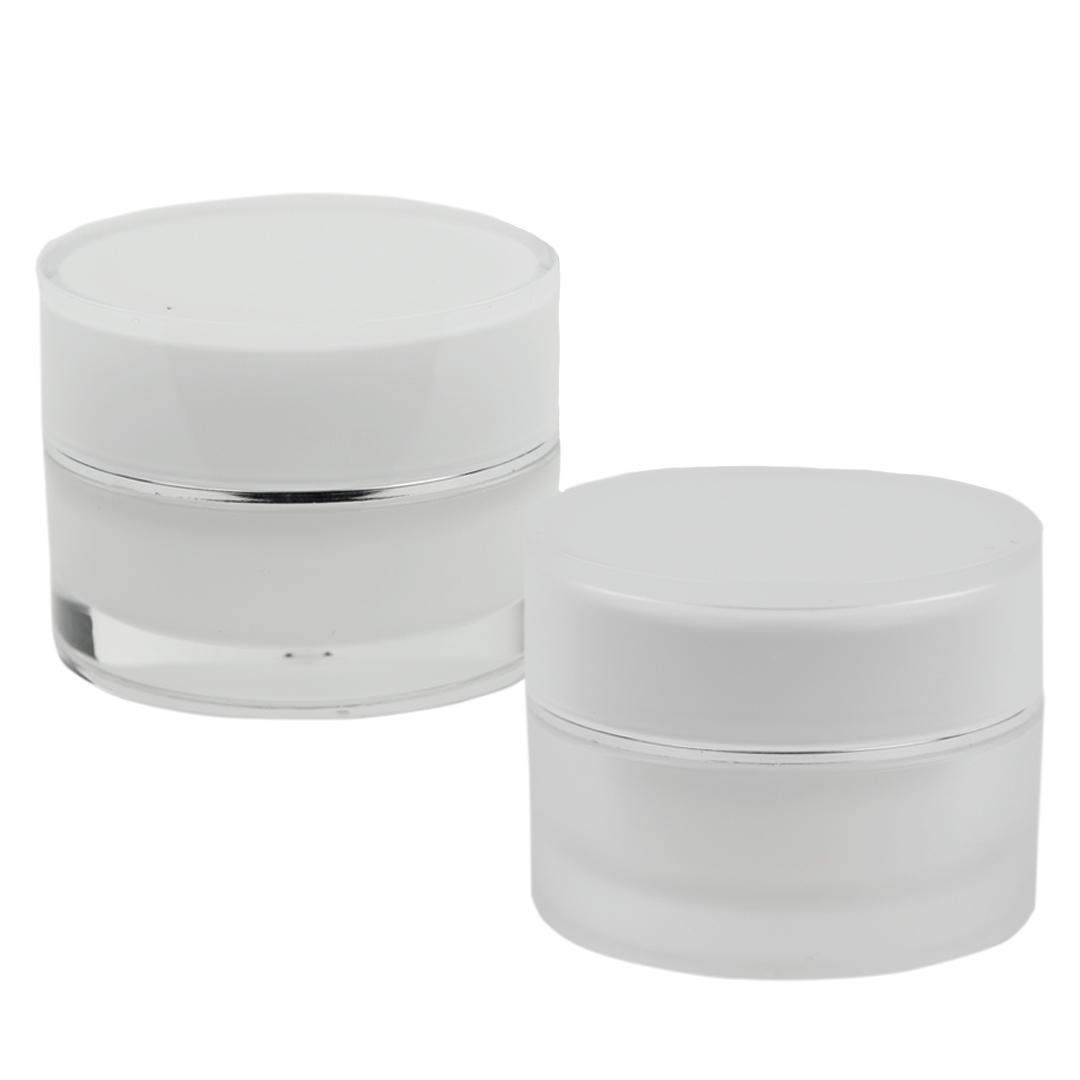 Rounded Acrylic Jars with Lids & Liners