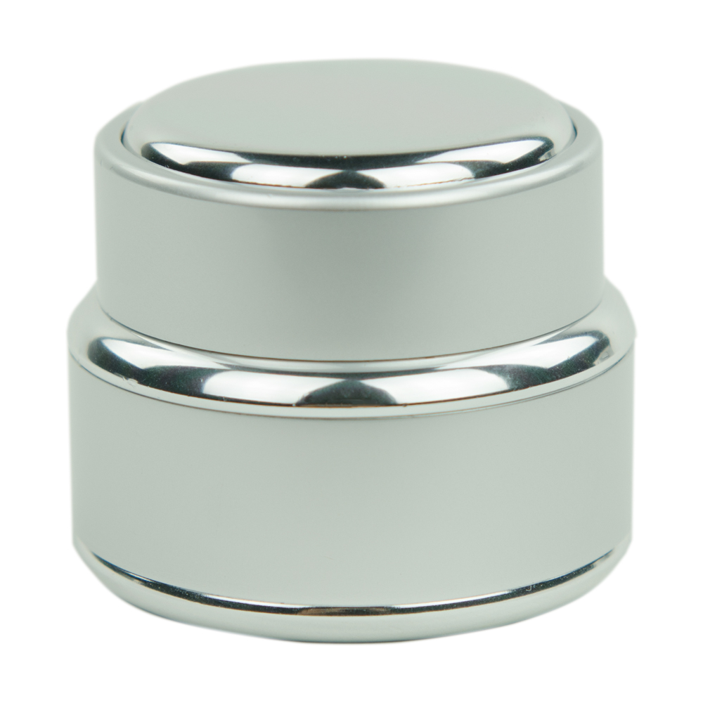 Brushed Aluminum Glass Jar with Lined Cap