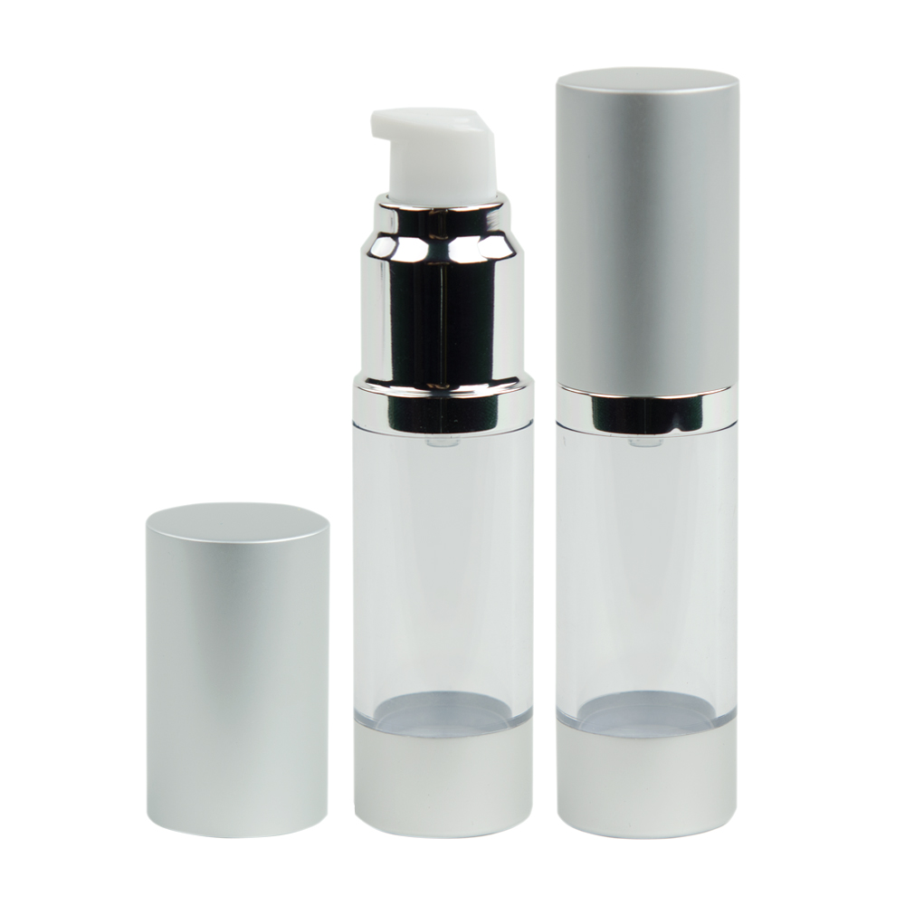 Clear Airless Bottle with Pump & Cap