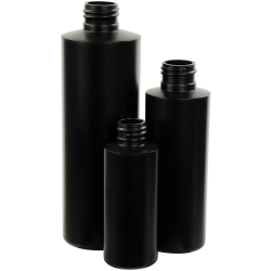 Black HDPE Cylindrical Sample Bottles