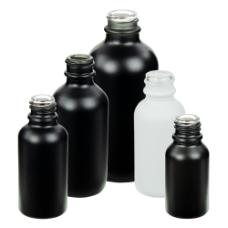 E-Liquid Boston Round Matte Glass Bottles