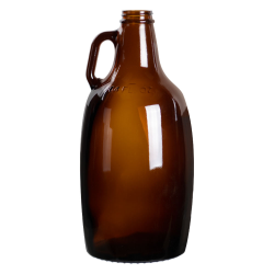 Amber Glass Growler Jugs & Caps