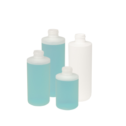 Squat Cylinder HDPE Bottles with Symmetric Disc Cap