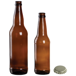 Glass Root Beer Bottles and Cap