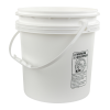 White Polypropylene 4-1/4 Gallon/16 Liter Bucket with Handle