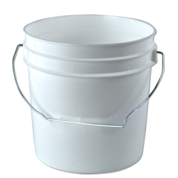 White 1 Gallon Bucket & Lid