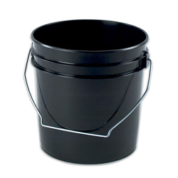 Black 1 & 2 Gallon Buckets & Lids