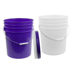 5 Gallon HDPE Buckets & Lids