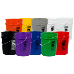 5.25 Gallon Colored HDPE Buckets & Lids