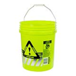5 Gallon Reflective Caution Pail