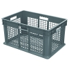 "24""L x 16""W x 12""H Akro-Mils® Straight Walled Gray Container w/Mesh Sides & Base"