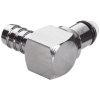 "1/4"" Hose Barb LC Series Chrome Plated Brass Elbow Insert - Shutoff"