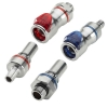 "3/8"" Compression Nut Chrome Plated Brass Valve Insert - Red"