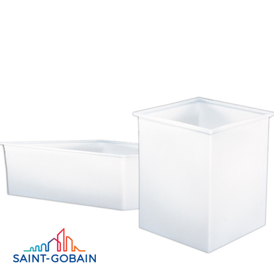 "15 Gallon, 24"" L x 12"" W x 12"" H Rectangular Polypropylene Tank with Cover"
