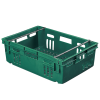 "24"" x 16"" Dark Green Stack-N-Nest Ventilated Agricultural Containers"