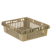 "24"" x 20"" Beige Stack-N-Nest Ventilated Agricultural Containers"