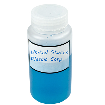 Polypropylene Graduated Label Bottles with Caps