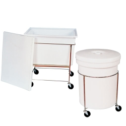 Polyethylene Rectangular & Round Mobile Containers with Covers