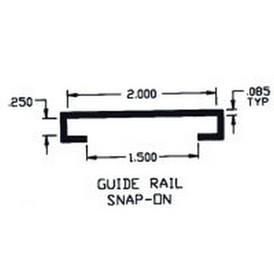 "Duravar UHMW-PE 2""  Wide Guide Rail Snap-On Profile"