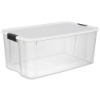 Sterilite® 116 Quart Ultra™ Storage Box with White Lid & Titanium Latches